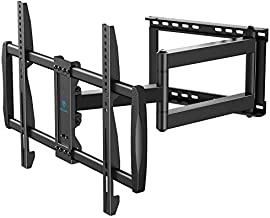 Full Motion TV Wall Mount Fit 37-75 Inch LED LCD OLED Flat/Curved Outdoor TV with VESA 600x400mm Articulating Corner TV Bracket Swivel & Tilt W/28 Inch Long Extension Arm Hold TV up to 110lbs PSXLF03