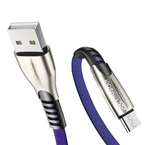 Kit Me out Cavo Cavetto Micro USB per Nokia 3.2 [2 Pezzi 2M] [3.1 Amp] Cavi Carica Micro USB, Trasferimento Dati e Ricarica Rapida - Blu
