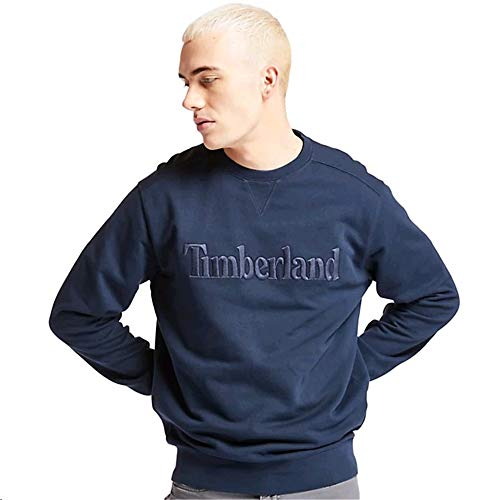 Timberland A2245 Pattern Exeter River Logo Sweat Top X-Large Navy