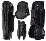 Murlancra Guêtres avec protection contre les chocs, lot de 4 bottes de sport pour cheval,...