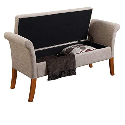 Convenience Concepts Designs4Comfort Garbo Storage Bench, Tan Fabric