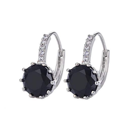 1Pair Fashion Women Earrings Full Ear Stud Round Drop Dangle Earrings Earcuff Party Jewelry for Women Girl Modeling Accessories