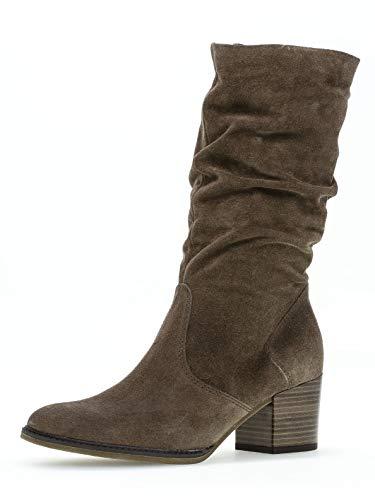 Gabor Damen Stiefel 32.894, Frauen Stiefel,Boots,Lederstiefel,Langschaftstiefel,Reißverschluss,Mohair (Micro),38 EU / 5 UK