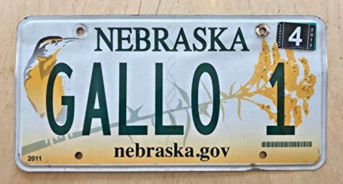 EpochSign Nebraska Bird Vanity License Plate Gallo 1' Ernest Julio Wine Winery Italian License Plate 6x12 inches