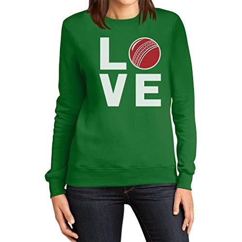 Love Cricket - Coole Geschenkidee für Cricket Fans Frauen Sweatshirt Small Grün