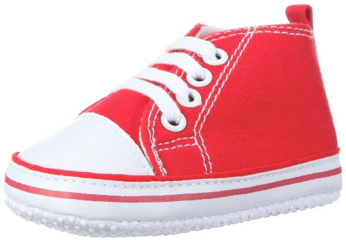Playshoes Baby Canvas-Turnschuhe, Rot (rot 8) 18