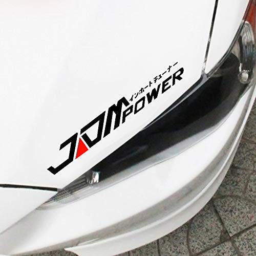 KaaHego Car Sticker Vinyl Decal Emblem Windows,Sides,Bumper, Hood Car Sticker for JDM Power (Vinyl, 29.5X 5.5 cm)_Black
