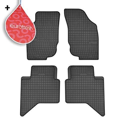 Frogum Auto-Fußmatten aus Gummi, 4-teilig, kompatibel mit Toyota Hilux VII Doppelkabine 2005-2016