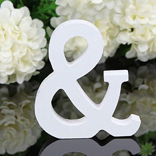 BIGBOBA Holz Buchstaben A-Z Retro DIY Dekoration für Home Coffee Shop Kleidung Store Geburtstag Party Hochzeit Weiß, Höhe 8 cm, &