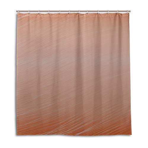 Yushg Duschvorhänge für Jungen Apricot Texture Wallpaper Männlicher Duschvorhang 66 x 72 Zoll maschinenwaschbare wasserdichte Badezimmervorhänge