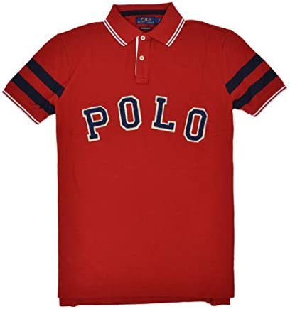 Polo Ralph Lauren Mens Bulldog New York Custom Slim Fit Polo Shirt Red M product image