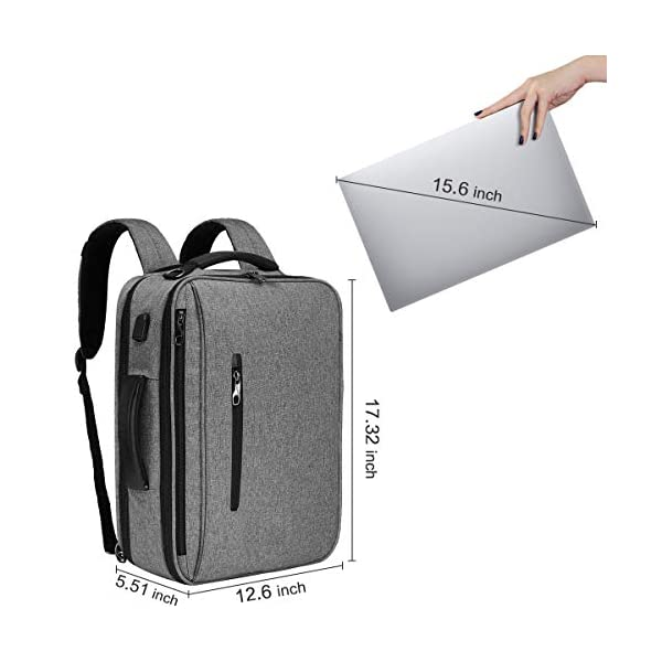 SLOTRA Mochila Ordenador Portatil Bolsa Antirrobo Impermeable 15.6 Pulgada para Viaje Oficina Escolares Negocios Trabajo…