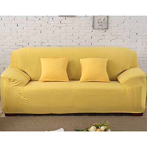 Funda de sofá elástica Gris sólida Funda de sofá con Todo Incluido Funda de sofá para Sala de Estar Funda de sofá A28 de 4 plazas