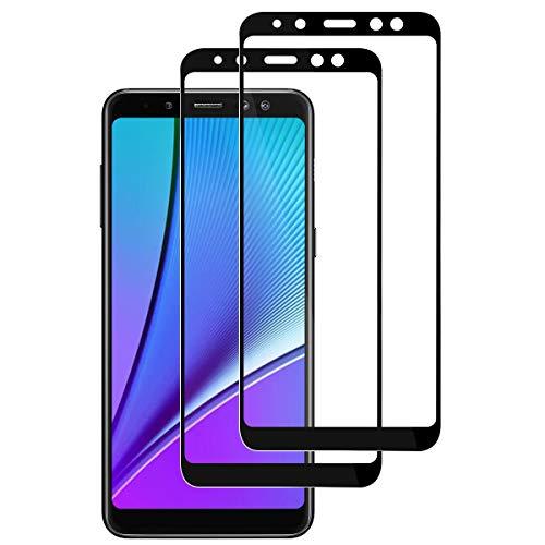 ROOTE 【2 Stück】 Galaxy A8 2018 Panzerglas Schutzfolie, [Full Screen] [9H Festigkeit] [Ultra-klar] [Anti-Kratzen] Bildschirmschutzfolie für Samsung Galaxy A8 2018