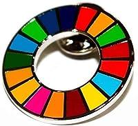 SDGs 国連 17色 公式 ピンバッジ バッジ バッチ バッヂ 襟章 留め具 日本未発売 (10)