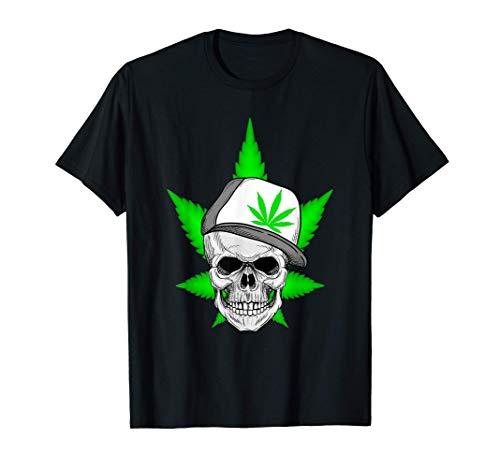 Scary Weed Marihuana Cannabis Skull Camiseta