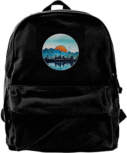 Homebe Mochila antirrobo Impermeable,Canvas Backpack Nature Vinyl Rucksack Gym Hiking Laptop Shoulder Bag Daypack for Men Women