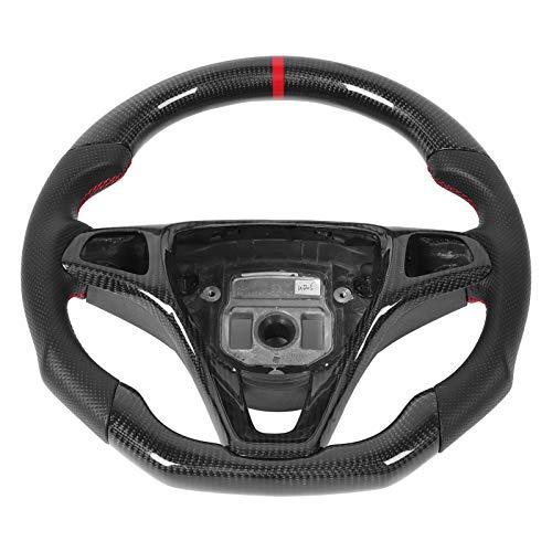 wosume Volante de Carreras, Volante de Fibra de Carbono Tejido de Fibra de Carbono 3k simétricamente Real, Apto para Mercedes-Benz New C Class GLC W205 2014-2020 Car Factory