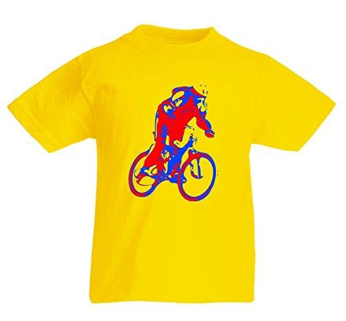Camiseta para ciclistas, ciclismo, deporte, ciclismo, ciclismo, ciclismo, ciclismo, ciclismo, casco de Ciclismo, JUNG, rojo, azul, ERHOLUNG, ciclismo, tiempo libre, para hombre, mujer, niños, 104 – 5XL amarillo Talla del hombre: 5X-Large