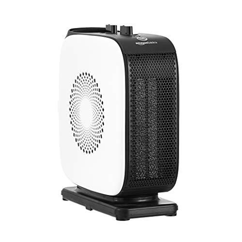 AmazonBasics - Oszillierender Heizlüfter, schmal, tragbar, 2 Geschwindigkeitsstufen, 1500 W