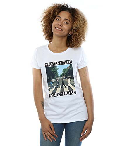 The Beatles Mujer Abbey Road Camiseta Medium Blanco