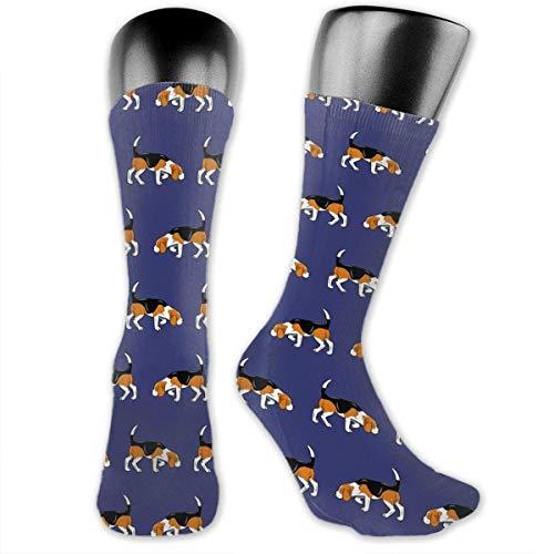 Inner-shop Calcetines deportivos a media pierna para perro Beagle, calcetines deportivos transpirables, calcetines altos clásicos para adultos, adolescentes, Unisex