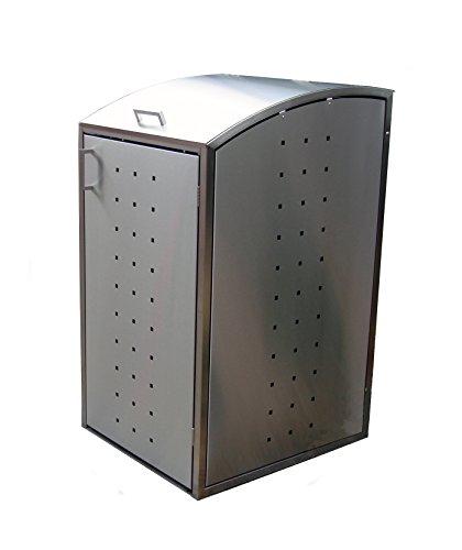 Resorti Mülltonnenbox Edelstahl 120 / 240 Liter hochwertige Müllbox robustes Mülltonnenhaus (120 Liter (62x66x116cm))