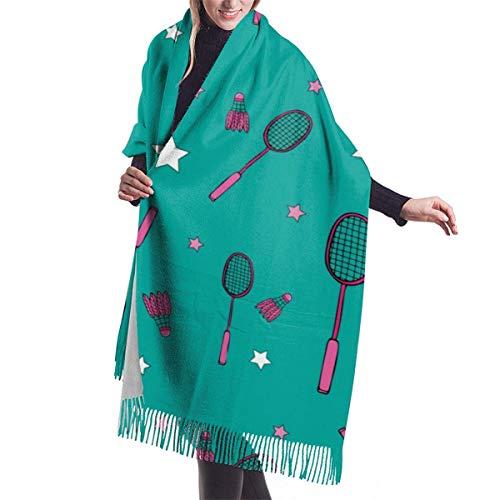 Qefgjbw Bádminton y raquetas Bufanda de chal informal Bufanda de invierno de cachemir para mujeres Hombres