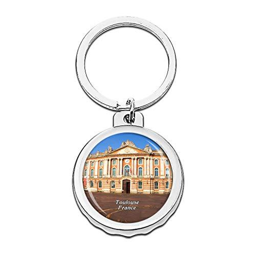 Hqiyaols Keychain Plaza del Capitolio de Francia Toulouse...
