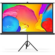 """Bomaker Projector Screen with Stand, 4K Ultra HD 100"""" 16:9 Wrinkle-Free Projector Screen, 1.1 Gain 160° Viewing Angle, Portable Projector Screen for Indoor Outdoor Activities, Office, Classroom"""