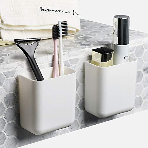 Mosunka - Organizador de baño, cocina, oficina, montaje en pared, autoadhesivo, soporte para bolígrafos (2 unidades)