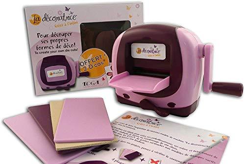 Toga dc00la décoratrice macchina di taglio plastica rosa/Prugna 19x 13,5x 8cm, Rosa