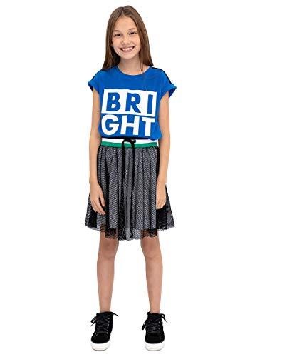 GULLIVER Kinderen Zwarte Rok Meisje Rok met Elastiek Korte Medium Lengte 134-170 cm