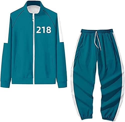 HJKSHS 2021 Pelcula Coreana Squid Game Disfraz de Juego de rol Disfraz con Capucha, Disfraz de Juego de rol, Ropa Deportiva Informal de Moda, Disfraz de Halloween Unisex