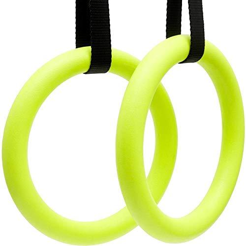 XMBT 1 Paar hochwertige ABS-Übung Fitness Gymnastikringe Fitnessstudio Übung Klimmzüge Muskel-Ups Training für zu Hause Gym Cross Fitness