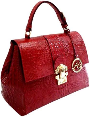 Women Top Handle Leather Bag
