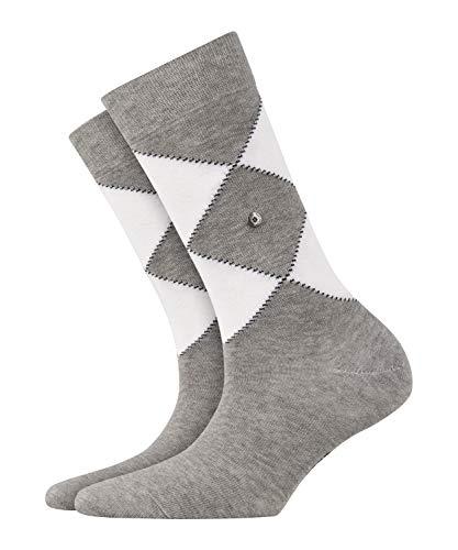 BURLINGTON Damen Socken Argyle Organic - 82prozent Baumwolle, 1 Paar, Grau (Light Grey 3400), Größe: 36-41