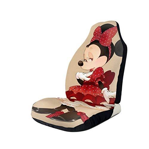 Du-shop Elegante funda de asiento de coche Minnie Mouse Asiento universal para vehículo Protector d