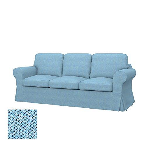 Soferia - IKEA EKTORP Funda para sofá de 3 plazas, Nordic Blue