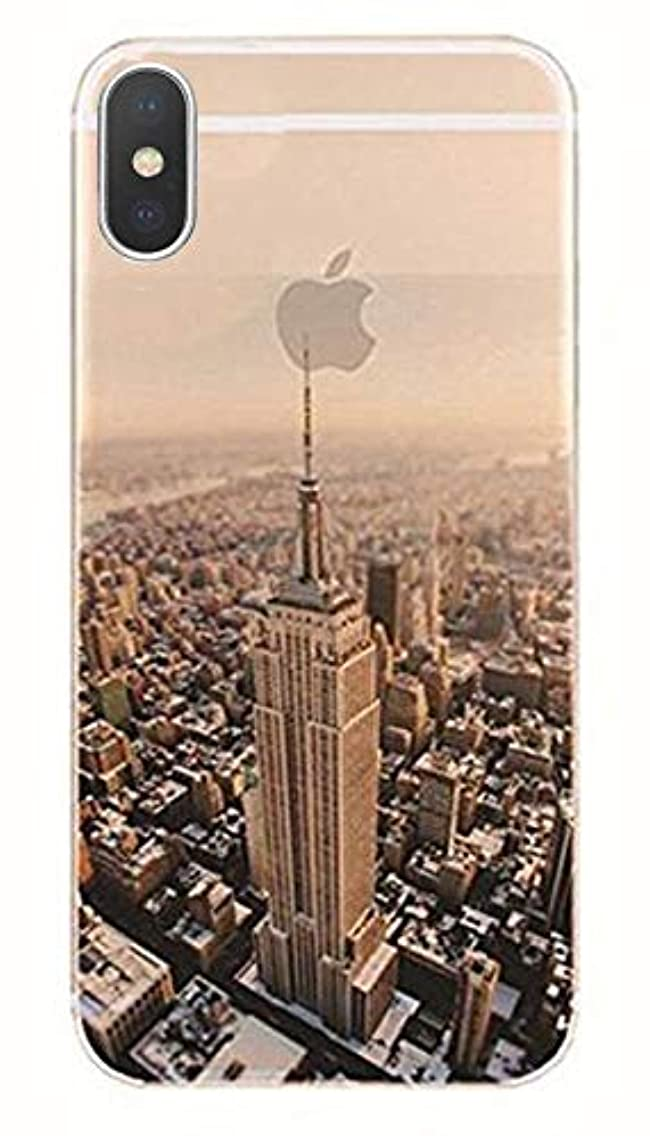 DECO FAIRY Compatible with iPhone XR, New York City NYC America Series Transparent Translucent Flexible Silicone Cover Case