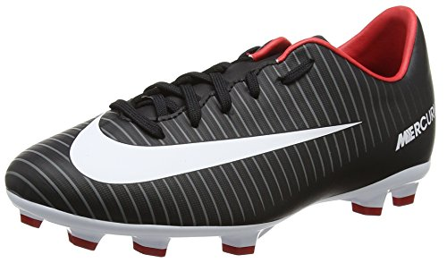 Nike Jr Mercurial Victory Vi FG, Botas de fútbol Unisex niños, Negro (Black/White/Dark Grey/University Red), 36.5 EU