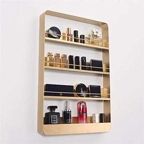 LLGBD Bar Möbel/Nordic Wand Nail Parfüm Gold-Shelf Kosmetik Mehrschichtige Wand Lippenstift Skin Care Products Schmiedeeisen Lagerschrank Schwimmdock Regale