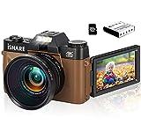 4K 48MP Digital Camera Vlogging Camcorder, Vlog Camera for YouTube, Flip Screen Camera with 16X...