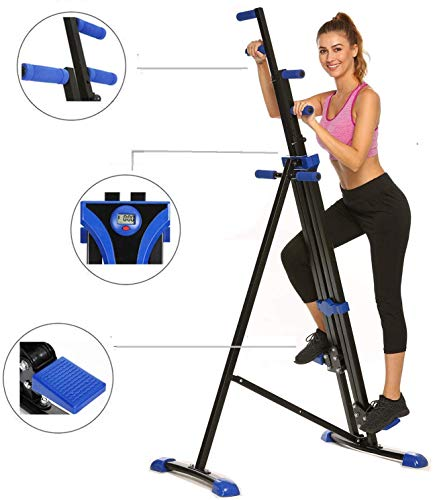 New Hurbo Vertical Climber Home Gym Exercise Folding Climbing Machine Exercise Bike for Home Body Tr...