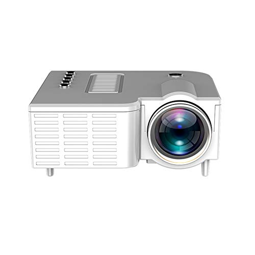LG&S Mini Proyector De Video Portátil Home Party Meeting Theater Full Color 1080P Home Cinema Proyector Integrado En Interfaz USB/TF/AV,Blanco