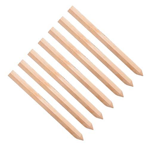 Konrado-Garden - Juego de 20 estacas de madera tratada, postes de 300 mm con forma de estaca