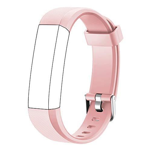 Muzili Verstellbares Ersatz-Armband für Fitness-Tracker, 5 Farben Schwarz, Pink, Grün, Blau, Lila, Rosa