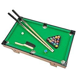 top 10 mini pool tables Mini Pool Table Portzon, Premium Table Mini Snooker for Pools – Balls, Queues, Racks…