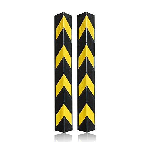 2x Eckschutzprofil | 78cm Winkel Kantenschutz | Garagenwand Stoßschutz | Eckwandschutz | Schutzprofil | Gummieckenschützer | Kantenschutz