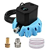 4. EDOU Automatic Swimming Pool Cover Pump Submersible Water Pump,1200 GPH,1/6-HP,110V,Including 16' Drainage Hose and 3 Adapters,Ideal for Water Removal,Blue